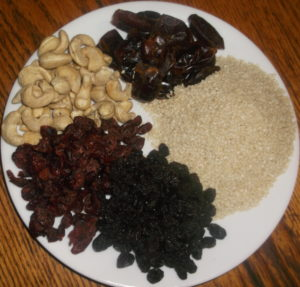 Dried fruits and nuts make a nutritious and tasty Halvah.